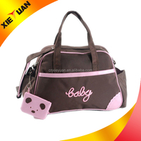 High quality product wholesale baby nappy bag carry with zipper shoulder strap