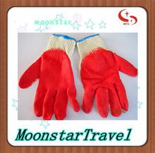 10 medidor de punto de algodón de látex guantes de trabajo