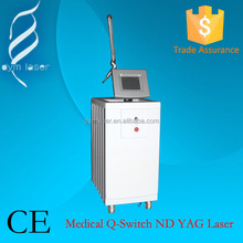 Medical CE q-switch nd yag laser for tattoo removal and skin rejuvenation