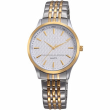 vague gold and silver wrist all stainless steel couple watches