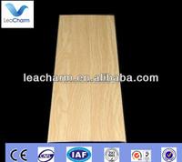 Interior suspended aluminum strip faux wood finish ceiling