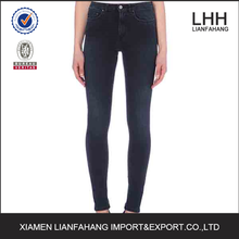 Fashion urban girl sexy cotton black tight jeans