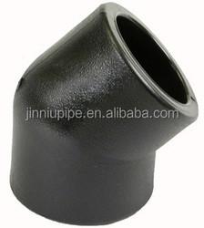 PE100 socket fitting PE 45 degree elbow