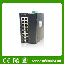 Unmanaged Layer 2 4 Gigabit Combo+8 Gigabit Ports Switch/12 port industrial ethernet switch