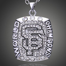 2012 San Francisco 49 ers Champion Ship Crystal Pendant Necklace Heart Chain Necklace