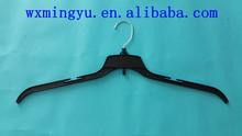PET plastic hanger for big clothes, plastic hanger for shirt