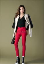 Outono inverno europeu novos grossas de veludo calças quentes mulheres botas calças