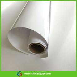 FLY 3D print pvc adhesive vinyl with clear glue,pvc vinyl for digital printing,glossy white pvc vinyl