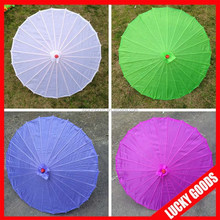 Chinese style colorful silk fancy wedding umbrellas for sale