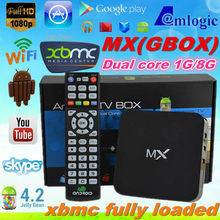 Android 4.2.2 Amlogic 8726 MX Mali 400 dual core DVB-T2 android tv box 1GB RAM 8GB ROM