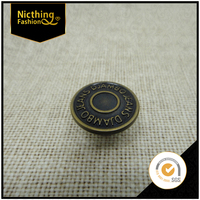 Wholesale Retro Black and Bronzed Jeans Buttons Decorative Screw Back fasteners NB111
