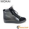 J001H-MK12 China factory designer Men' leather shoes lace up big size ankle boots winter boots men
