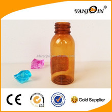 Eco- friendly 50ml brown pet bottle for liquid medicine wholesale