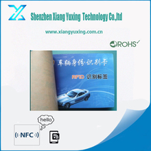 Customized printed 860-960 mhz rfid car sticker for windshield