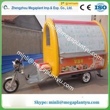 Hand push mobile food cart with frozen yogurt machine for sale