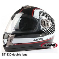DOT approved dual visors casco motorcycle full face helmet