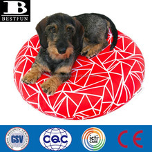 Cloth fabric flocking cover inflatable dog bed round plastic foldable dog beds air beds sofa