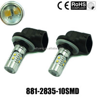 High Brightness 12V-24V 50w 880 881 T10 T15 H1 H3 Led Fog Lamp Led H27