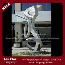 Outdoor Abstract Large Garden Metal Sculpture Of Stainless Steel