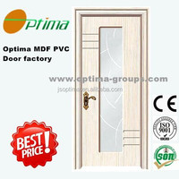 Europe popular MDF pvc doors Yongkang Jiangshan door factory
