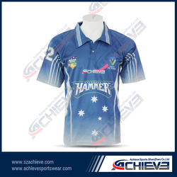 sublimation cricket shirt/cricket team uniforms/cricket team names jersey