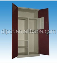 (DL-S3)Folding Ikea Double Color Metal / Steel Wardrobe Design Furniture Bedroom/ Steel Godrej Storage Cupboard Price