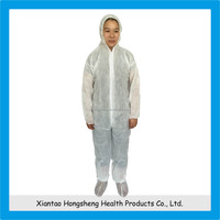 white 100% microporous disposable industrial working clothing