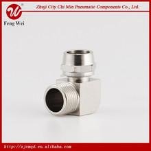china huawei brass pneumatic brass union elbow joint fitting