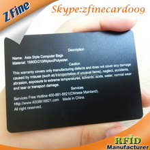China factory price american express black metal business id card