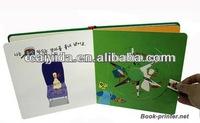 quality custom children hard board book glossy photo book printing