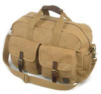 wholesale large capacity vintage canvas duffle bag