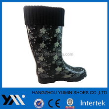 Women warm rain shoes with colar