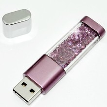 USB Disk 8G 16G 32G 64G Shell Crystal Sand Shell USB Flash Drive