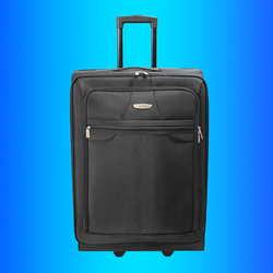 Stocklot Overstock Leftover polyester trolley luggage, surplus excess inventory sourcing trolley fabric upright suitcase set