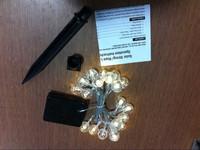Solar crystal ball string light/lamp for Christmas