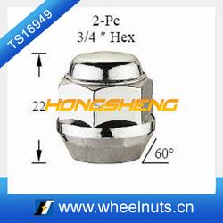 2 pcs 19 hex chrome white lug nuts