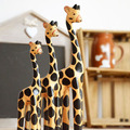 Los países nórdicos jirafa de madera de adornos de animales a mano- pintado tres- pieza trompeta c1452 regalos