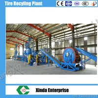 waste tyre recycling machine plant/rubber crumb production line hot sale