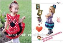 rojo de minnie mouse del bebé vestido nuevo de chica de moda traje decorativos