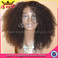 human hair top closure lace wigs afro kinky human hair lace front wigs