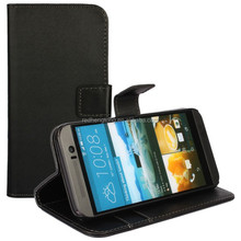 China Wholesale Wallet Phone Case For HTC One M9 PU Leather with Holder Money Pocket Stand