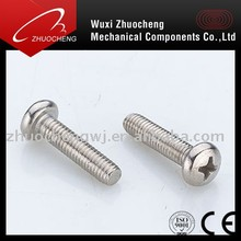 stainless steel phillips pan head machine screws