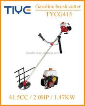 china gasoline portable grass cutter/ grass trimmer 41.5cc