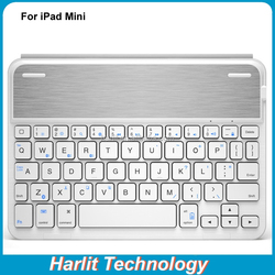 For iPad Mini Bluetooth 3.0 Keyboard Case For iPad mini Ultra Thin Folio Leather Cover With Bluetooth Keyboard