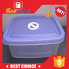 Customized unique design food tin box with pet window