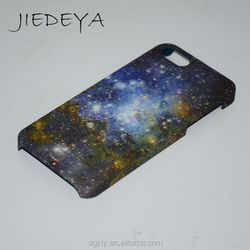 sky sublimation printing phone case for iphone5/5S with rubber coating
