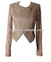high fashion lady Exclusive PU leather Jacket,sexy women jacket
