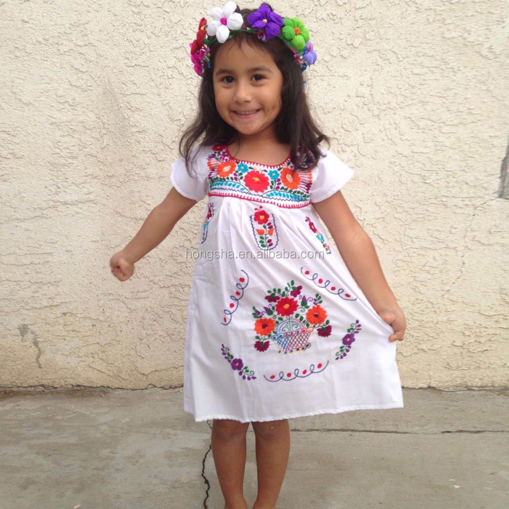 Vintage Mexican Embroidered Dress Latest Smoking Dress ...