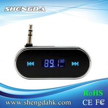 F-316 digital de alta fidelidad inalámbrica 3.5mm toma la frecuencia total a cargo del coche transmisor fm