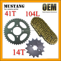 Spare Parts Motorcycle CD70 Sprocket and Chain Small